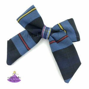 School Uniform Plaid #41 Hair Bow