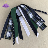 Plaid #80 Uniform Hair Accessories Ponytail Holder Custom with School Letters