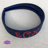 Personalized Hard Headband for School with School Letters or First Name