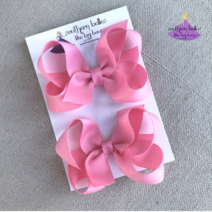 Personalized Pigtails Bow Set made in the Boutique Bow Style