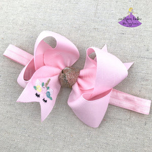 Unicorn Baby Headband for Baby Girl Shower in pink, lavender, aqua, purple, turquoise, or white