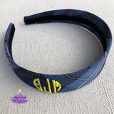Hard Headband in Plaid #41 for School Uniform Personalized with Monogram