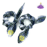 Bow Scrunchies Plaid Uniform #80 personalized with monogram for school