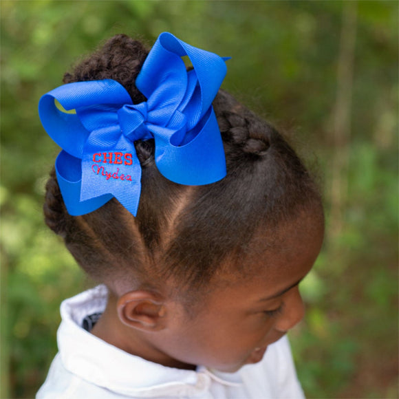 Personalized Bow with School Letters & Name - Small and Medium