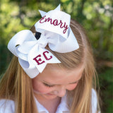 Big Personalized School Bow with School Letters and Name - Large & Jumbo