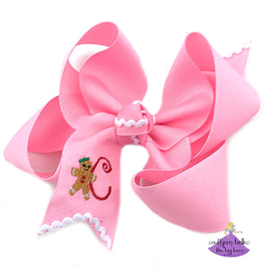 Pink Gingerbread Bow