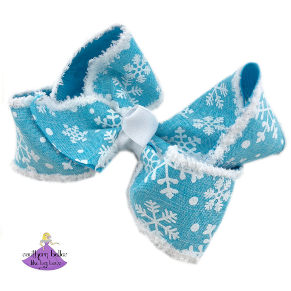 Big Snowflake Bow