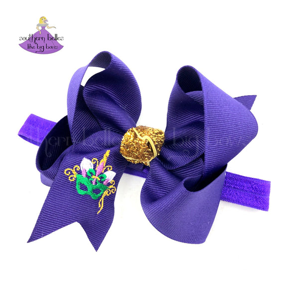 Unicorn Mardi Gras Baby Headband for Baby Girl Baby Shower