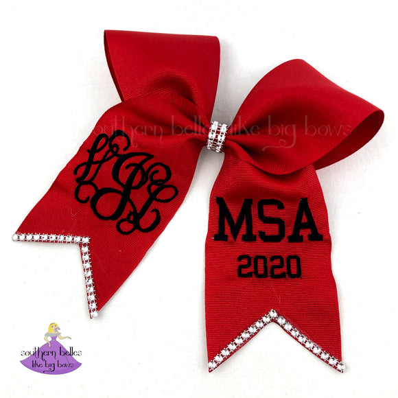 Personalized Graduation Cap Bow