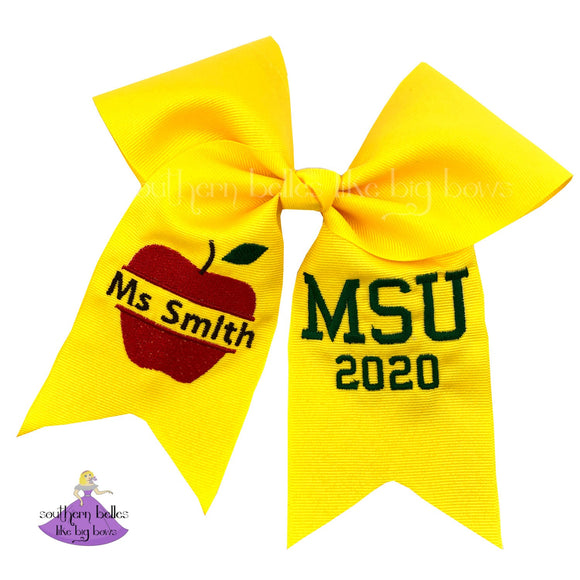 Personalized Teacher Graduation Cap Bow