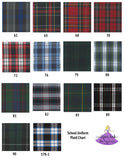 School Uniform Hair Accessories Plaid Options for Plaid # 62 63 68 70 72 76 79 80 81 82 83 89 90 578-1