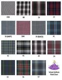 School Uniform Plaid Bow Scrunchies in Plaid #38