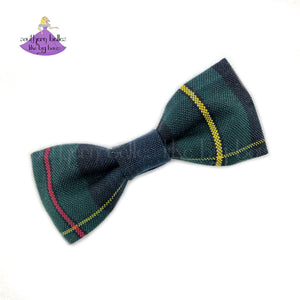 Small Plaid Uniform Hair Bow #83