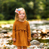 Fall photos fashion accessory for girl boutique bow with stripes in fall hues