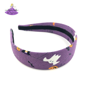 Halloween Hard Headbands for Girls and Women in Purple, Orange, and Gray