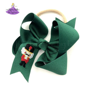 Baby Bow Headband with Nutcracker Toy Solider