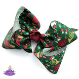 Big Christmas Boutique Bow for Girls in green