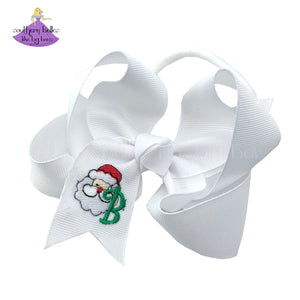 Personalized Santa Baby Headband with Bow