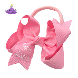 Baby Announcement Big Sister Baby Bow Headband