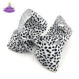 Big Boutique Bow for Girls in Dalmatian Print