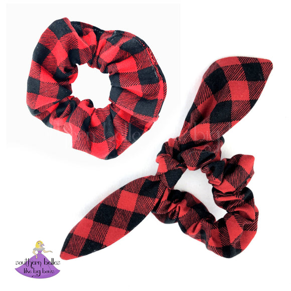 Monogrammed Scrunchies with Tails