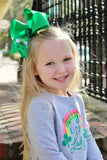 Big St. Patrick's Day Hair Bow