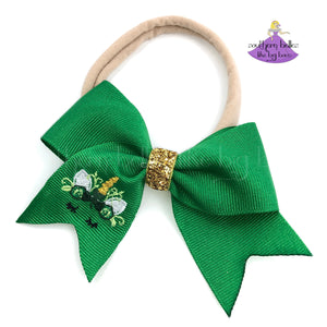 St. Patrick's Day Bow Heaband for Baby Girl