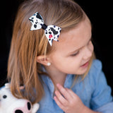 Cow Print Hair Bow Clips for toddlers