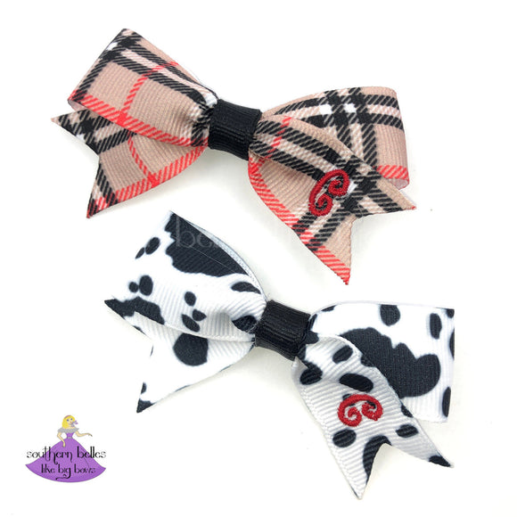 Personalized bow clips for girls