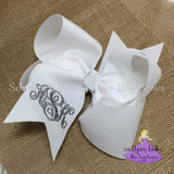 Jumbo Monogram Bow (Various Colors)