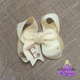 Ivory Bow with Initial Letter