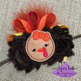 Thanksgiving Turkey Baby Bow