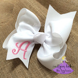 White Bow with Initial Letter