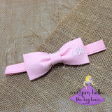 Pink Bow Tie with Monogram