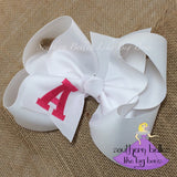 School Spirit Bow Personalized with School Letters