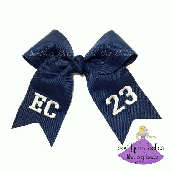 Personalized Soccer Bow with Tails