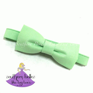 Mint Bow Tie for Ring Bearer