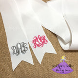Monogrammed Bouquet Ribbon