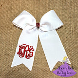 Monogrammed Ponytail Bow