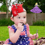 Baby Headband Bow Personalized with Initial Letter (Multiple Color Options)