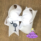 South Carolina Hair Bow with Monogram in Large