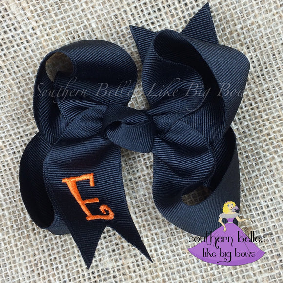 Black Bow with Initial Letter