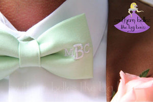 Southern Wedding Bow Tie with Monogram