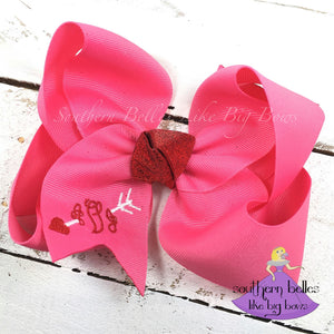 Pink Arrow and Heart Bow