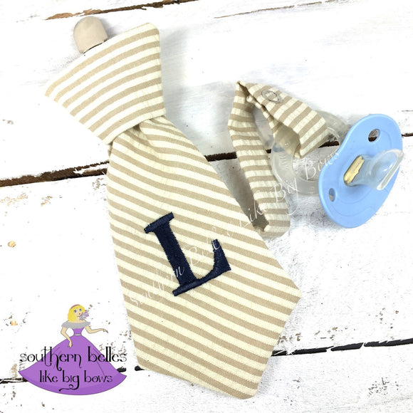 Personalized Necktie Pacifier Clip for Baby Boy