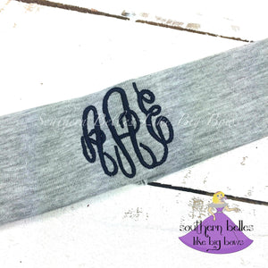 Monogrammed Headband - Stretch Knit 1 Color