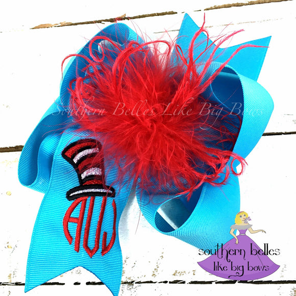 Dr Seuss Birthday Bow