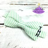 Seersucker Bow Tie with Monogram