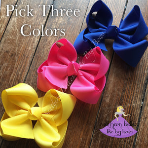 Boutique Bow Gift Set in Colors and Sizes You Choose