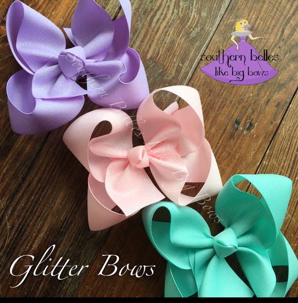 Glitter Bow -Small to Medium